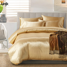 Urijk 3PC Sation Cotton Bedding Set Faux Silk Palace Bed Cover Pillowcase Home Textile Duvet Cover Set Comforter Bedding Sets(China)