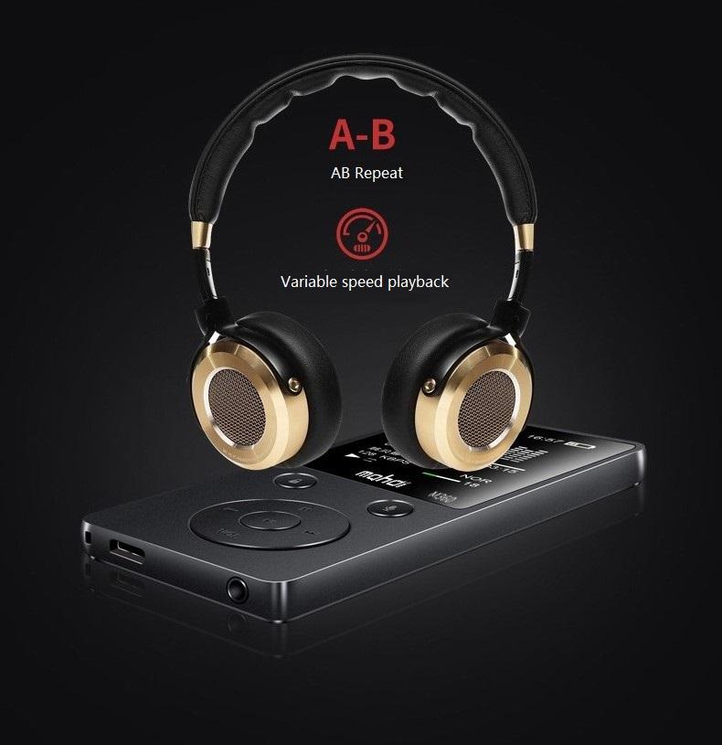 Top Brand MP4 Player Mahdi M360 4G8G Alarm Clock FM Radio E-Book Recording Speaker TF New Metal Sport MP4 With Armband Earphone (11)