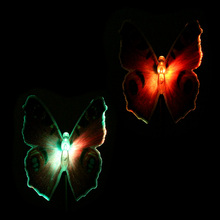 Lawn Landscape  2Pcs Color Changing Solar Powered Garden Pathway Decoration LED Butterfly Lamp Spike Light Sense