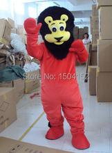 Hot sale cartoon red lion Mascot Costume Adult Character Costume optional giving mini fan Halloween