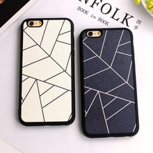 Black White Hot fashion lovers geometry Silk pattern TPU Soft silicone Case Cover For iphone 7 SE 5 5s 6 6s 7 7plus back shell