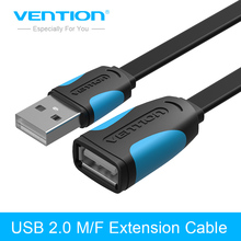 Vention USB 2.0 Extension Cable High Speed Male to Female USB 2.0 Cable 1m 2m 3m Cable Extender Data Sync Cord Cable Transfer(China)