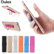 Dulcii For iPhone for Samsung Finger Grip Elastic Band Strap Universal Phone Holder with Stand for Mobile Phones Tablets