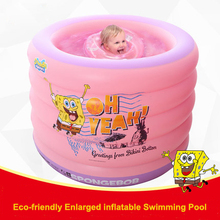 Inflatable baby pool eco-friendly PVC Swimming Pool 5 layer Round bath tub ball pool Safety Baby cartoon air Float kids Toys(China)