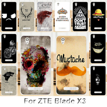 Solf TPU Silicone Case For ZTE Blade X3 Mobile Phone Cover Bag Cellphone Housing Shell Skin Mask Color Paint Shipping Free