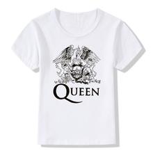 Boy and Girl Print FREDDIE MERCURY T-shirt Children Heavy Rock top100 band queen T shirts Kids Tops Tee Baby Clothes