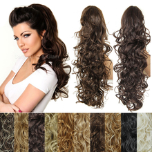 200g Synthetic Tails of Hair 20 Inch Claw Ponytail Extensions Curly Hair Tail Artificial Hair Ponytail Natural Curly Hair Tail