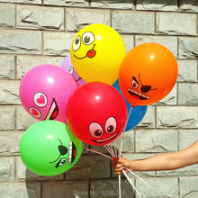 50pcs 12 inch 2.8g happy face smile face balloon latex balloon color mixed bairhday globos High quality(China)