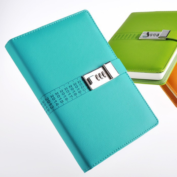 High Quality Multifunction Hardcover Commercial Diary Bookwith Coded Lock A5 Notebook Password Lock<br><br>Aliexpress