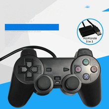 usb wired game controller for sony PS3 controller Playstation 3 Dualshock 3 for ps2 play station for pc controller wired(China)