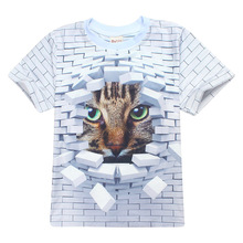 New Children summer 3d clothes unisex t shirt kids animal pattern boys girls t-shirts for 4-14Y