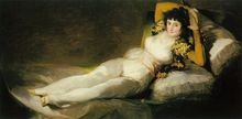 Free shipping 100% hand painted most famous artists painting reproduction goya oil painting Maja-Vestida