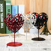 Creative Moroccan Iron Heart Shape Hollow Out Candlestick Candle Holder Holder Wedding Home Decoration Candle Lantern Holder