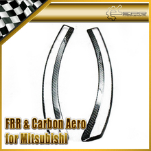 Car-styling For Mitsubishi Evolution EVO 10 OEM Style Carbon Fiber Front Fender Vent Trim