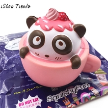 Antistress Toy Cute Cup Panda Squeeze Slow Rising Toy Relieve Fun Decor Gift gags practical jokes *7815(China)