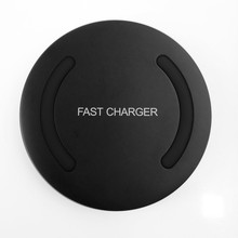 Portable Mini QI UG110-F Wireless Charger Fast Charging Dock For Samsung Android Smart Phones Fast Charge Disk Black(China)