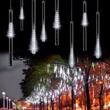 30cm 8 Tubes 144 LED Meteor Shower Rain Lights, Drop/Icicle Snow Falling Raindrop Cascading lights