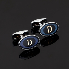Luxury shirt round Letter D cufflink for mens Brand cuff buttons cuff links High Quality abotoaduras Jewelry(China)