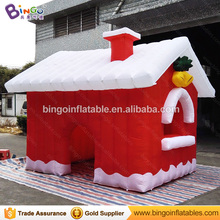 3.8*3.2*2.7m Factory direct inflatable Christmas house Santa Claus house tent inflatable Christmas outdoor advertising ornaments(China)