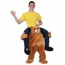 Teddy Bear Stuffed Mascot Ride On Costume Novelty Fancy Dress Costume For Halloween Party Ride on Costume Animal Funny Pants