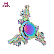 Buy Rainbow Color Fidget Spinner Metal Gun Design EDC Hand Tri Spinner Autism ADHD Anti Stress Finger Toys Adult Kids Spin Gift for $4.91 in AliExpress store