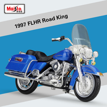 New 1:18 Scale Harley 1997 1999 FLHR Road King Diecast Metal Model Motorcycle Cruiser Vehicles Motorbike For Kids Gifts Toys(China)