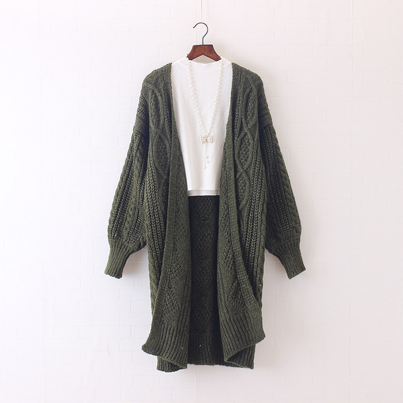 H.SA 17 Women Long Cardigans Autumn Winter Open Stitch Poncho Knitting Sweater Cardigans V neck Oversized Cardigan Jacket Coat 17