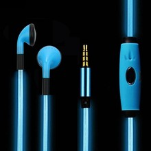 Original LED Luminous Earphone LED02 Night Lighting Stereo Headset with mic for iPhone 6 5s Xiaomi mi samsung huawei oppo mp3 dj(China)