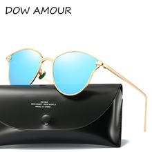 DOW AMOUR brand polarized sunglasses women fashion Cat eye sun glass men classical Unisex oculos de sol female with package
