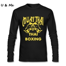 Graphics t-shirt Men Friends Adult Shirt Muay Thai Organic Cotton Boxinger Uniform Tops(China)