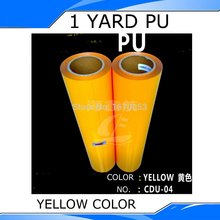 Yellow Color PU Heat Transfer Film Vinyl,Korea Quality with best price