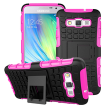 Shockproof Rubber PC+TPU Hybrid Case Cover For samsung A3 2015 2016 2017 A300 A310 A320 A5 2015 2016 2017 A500 A510 A520F A9(China)