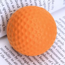 10pcs/pack Soft Indoor Practice PU Orange Golf Balls Training Aid(China)