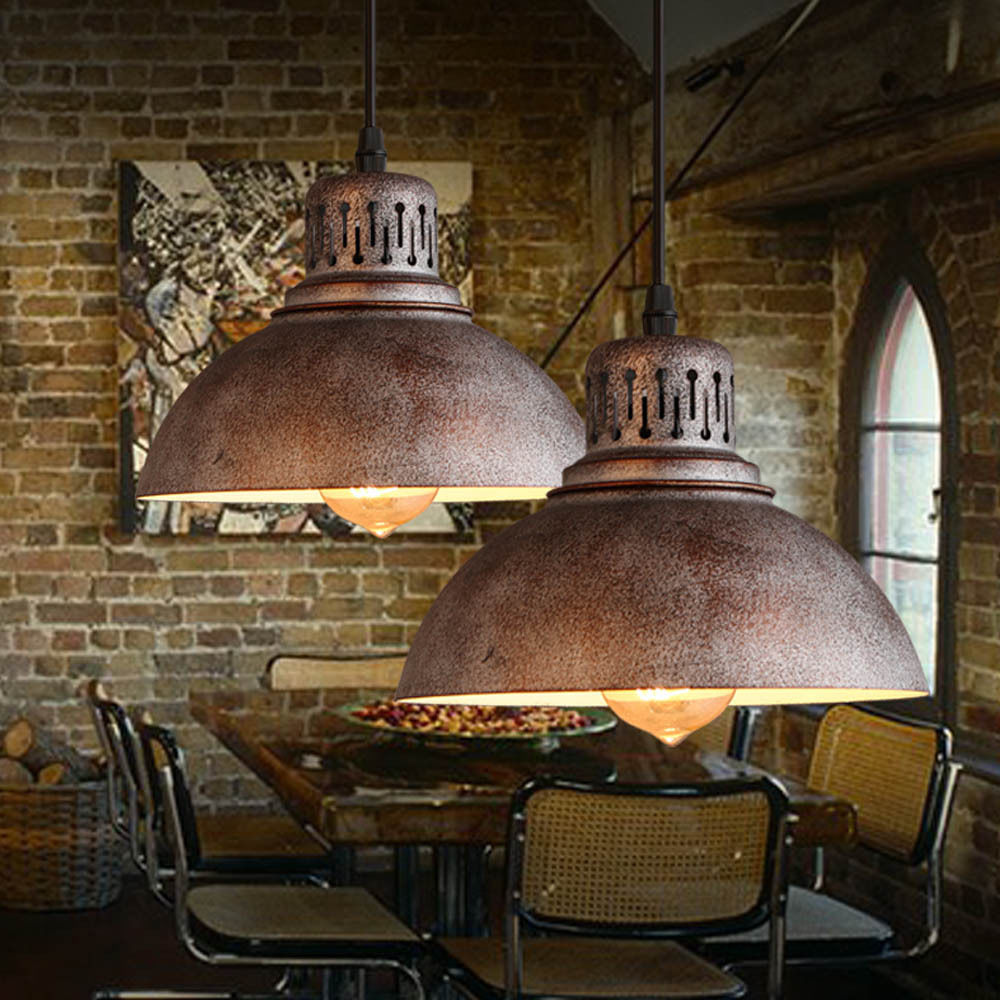 Loft Rustic Dinning Room Pendant Light Vintage Warehouse Iron Ceiling Lamp Bar Cafe Kitchen Lighting Hanging Light Fixtures<br>