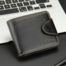 2016 New arrival brand short men's wallet,high quality top zipper purse for male,short coin purse, free shipping