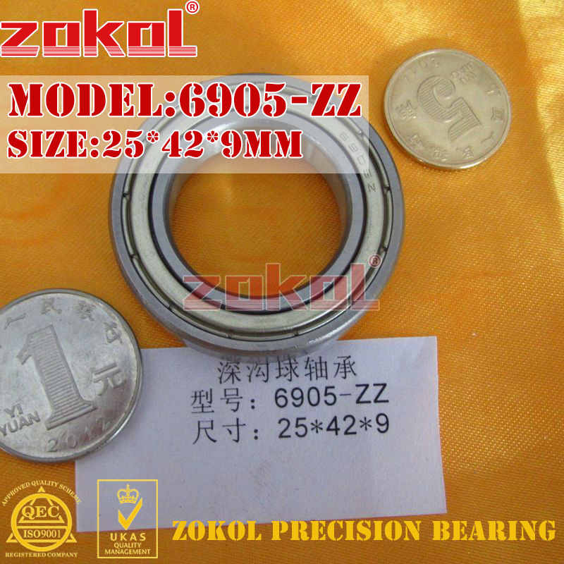 ZOKOL 6905 RS bearing 6905 2RS ZZ 6905ZZ Z1 6905 Deep Groove ball bearing 25*42*9mm