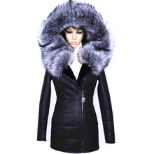 Factory direct supplier winter 2017 new women fur coat fox fashion Diamonds Leather belt suede Faux thicker female Hooded Jacket