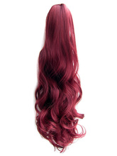 "QQXCAIW Women Girls Natural Long Curly Red Blonde Black Brown 170g 20"" 55 Cm Clip In Claw Ponytail Synthetic Hair Extensions"