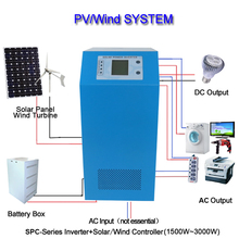 CE RoHS 24v 3000w charger inverter, hybrid inverter 3000w, built-in controller 45A, peak 6000w line-interactive UPS
