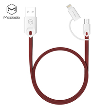 Buy Mcdodo Gorgeous 2 1 Data Sync Cable Lightning/Micro USB USB iPhone Anroid os 2 Use 2.1 Fast Charging for $3.79 in AliExpress store
