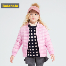 balabala Baby girls Snowsuit down parkas coat outerwear Clothes casual Winter Warm Coat Jacket for Infant Girls Children(China)