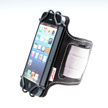 TFY Open Face Sport Armband Wrist Holder + Key Holder for 4 Inch to 5.5 Inch Cell Phone - (Open-Face Design - Black & Grey belt(China)