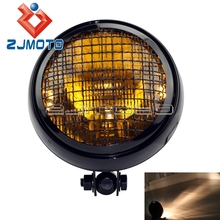 "Motorcycle Custom 5.75"" Retro Headlight Mesh Grill Fit Old School Cafe Racer Vintage Retro Grille Headlight"