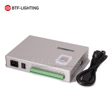Wholesale T-300K T300K SD Card online VIA PC RGB Full color led pixel module controller 8 ports 8192 pixels ws2812 ws2811 ws2801(China)