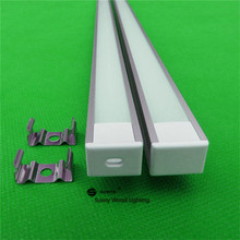 10pcs/lot 40inch 1m led bar light housing , led aluminium profile matte clear cover,alu channel with 5050/5730 strip(China)
