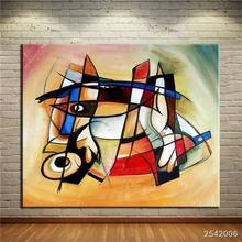 No Frame Printed Point And Cubic Abstract Oil Painting Canvas Prints Wall Painting For Living Room Decorations Wall Picture Art