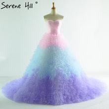 Colored High-end Photography Princess Wedding Dresses 2018 Fashion Sexy  Simple Bridal Wedding Gown Robe De Mariee b8d8a9a6d5b6