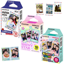 For Fuji Fujifilm Instax Mini 8 70 90 NEO Film Photo  Instant Camera , 30 Sheets Papers Airmail Stained Glass, Shiny Star Frame