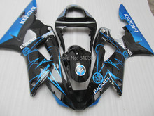 2015 Motorcycle Fairing kit for YZFR1 00 01 YZF R1 2000 2001 YZF1000 Gloss black blue ABS Fairings bodywork+7gifts YC77