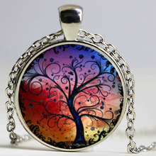 Wholesale Glass Dome Tree of Life Necklace, Tree of Life Pendant, Tree of Life Jewelry,